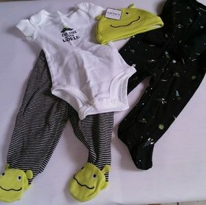 Carter's Baby Boy 4 Piece Little Layette 3 months